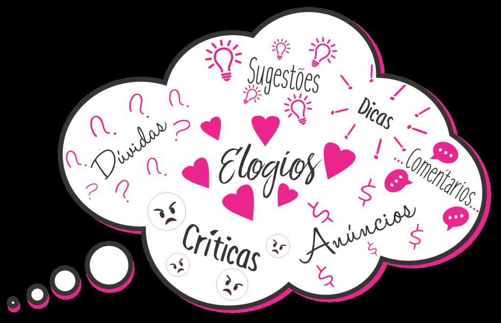 Dúvidas, críticas, elogios, sugestões, dicas, comentários e anúncios