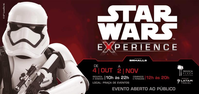 Exposição do Star Wars em São Paulo no shopping Mooca Plaza