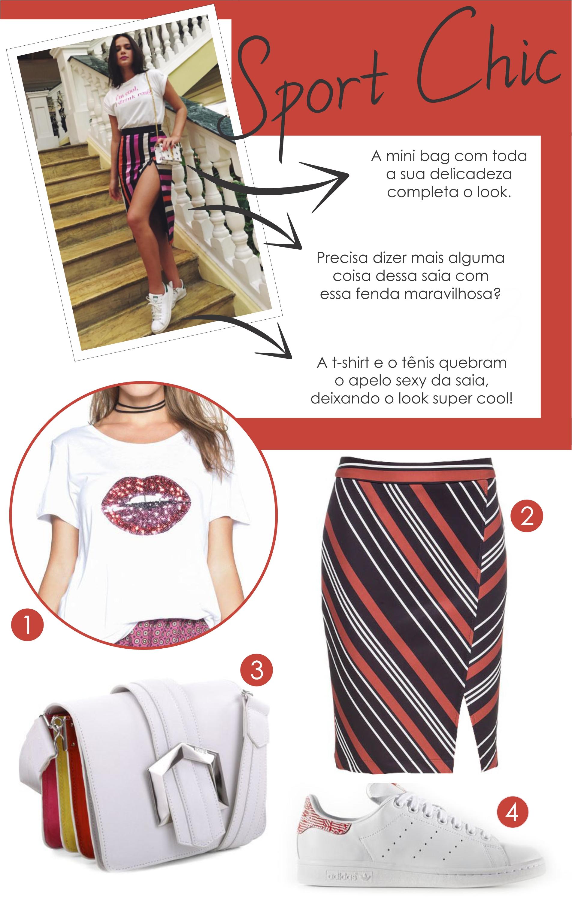 Look da Bruna Marquezine para um look Sport Chic