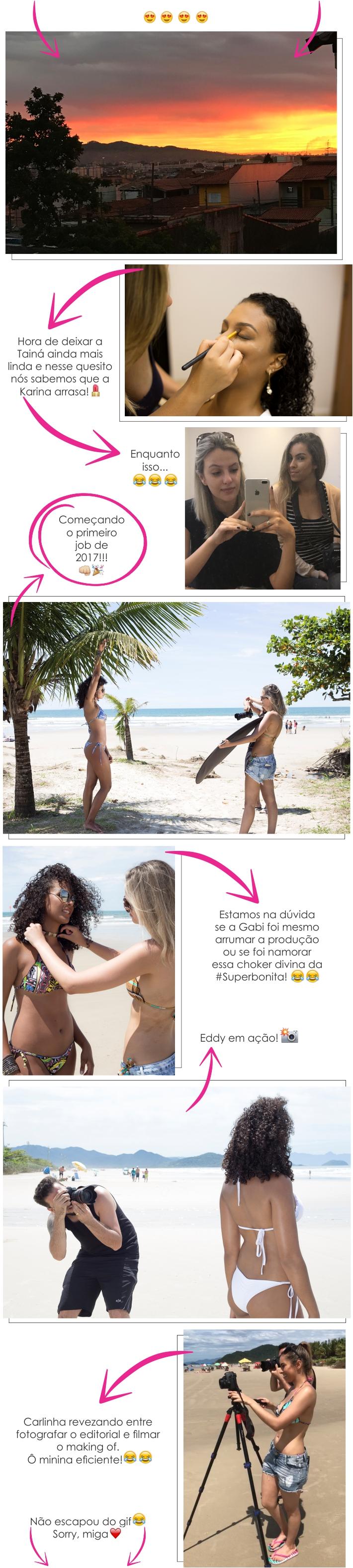 """Making of: editorial """"Verão pede praia!"""""""