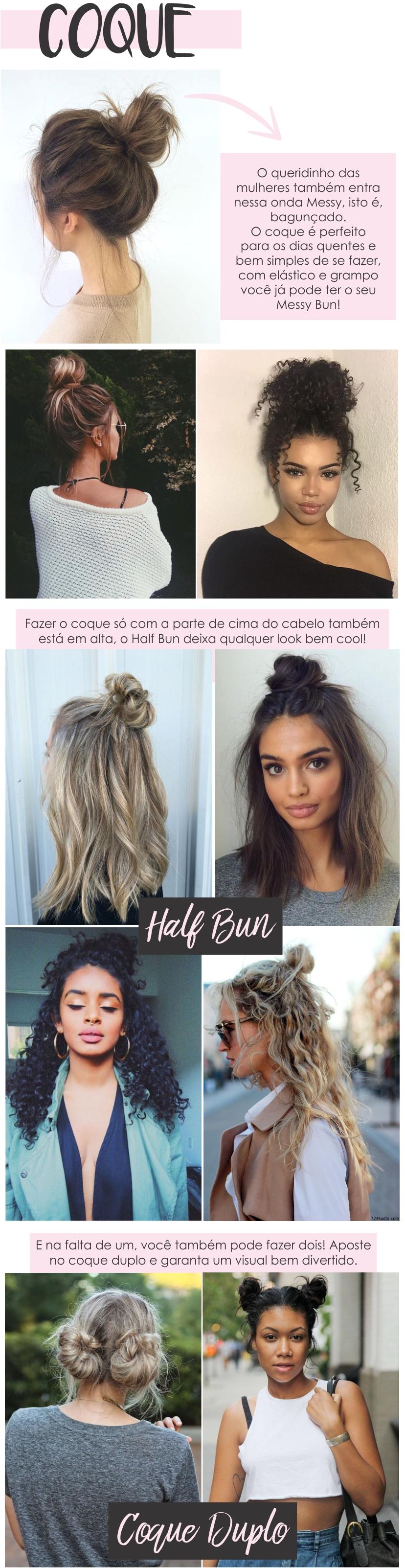 Dicas de penteados com variados coques