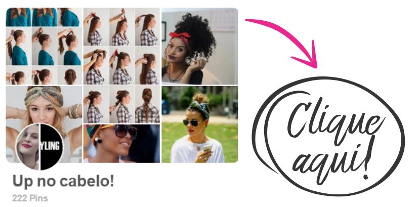 Pasta no Pinterest com inúmeras referências de penteados fáceis