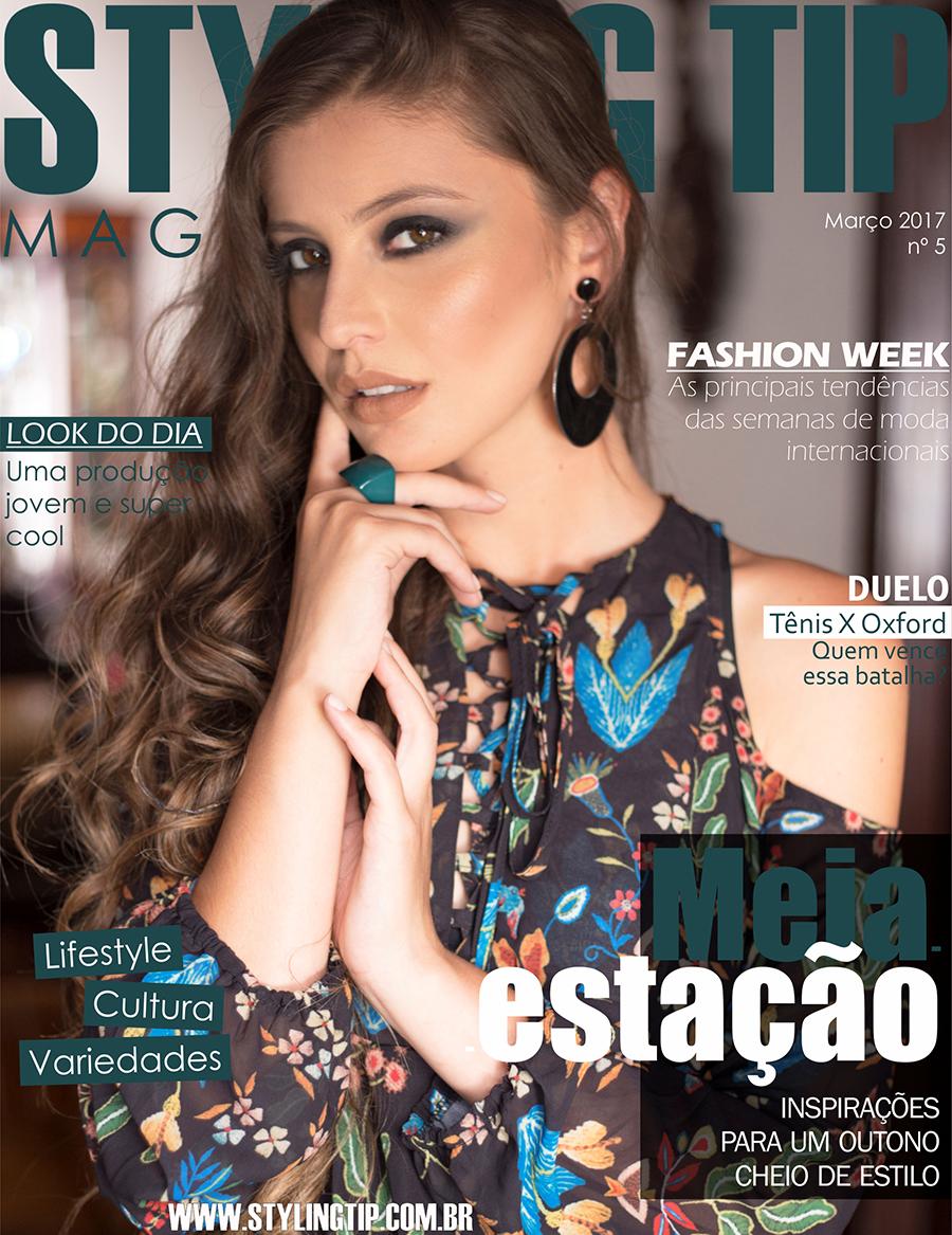 Capa de Março edição de Outono da revista digital STYLING TIP