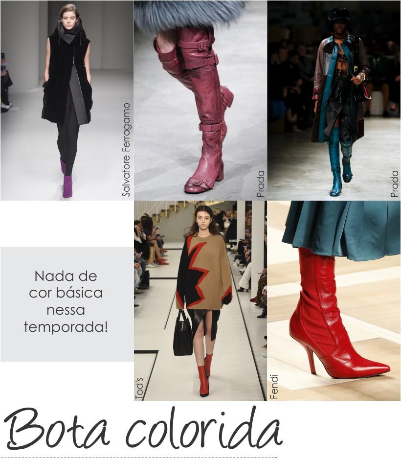 Botas coloridas são tendências