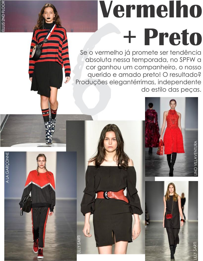As cores preto e vermelho estarão na moda juntas