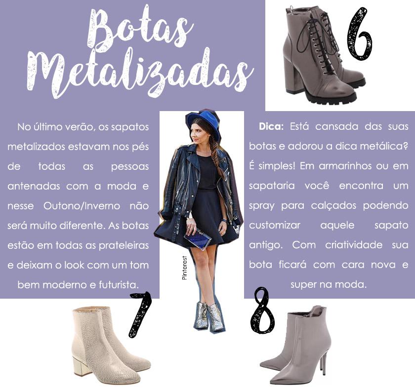 Dicas de looks com bota metalizada