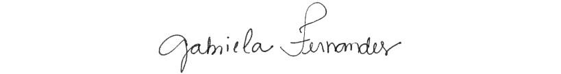 Assinatura Gabi Fernandes