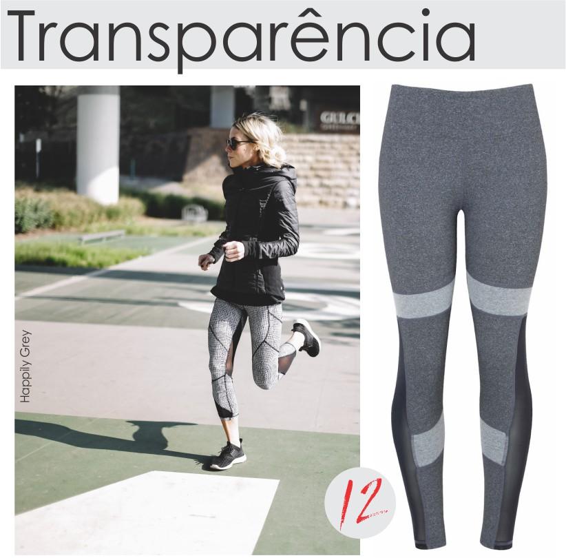 Dicas de estilo com transparência para o look fitness