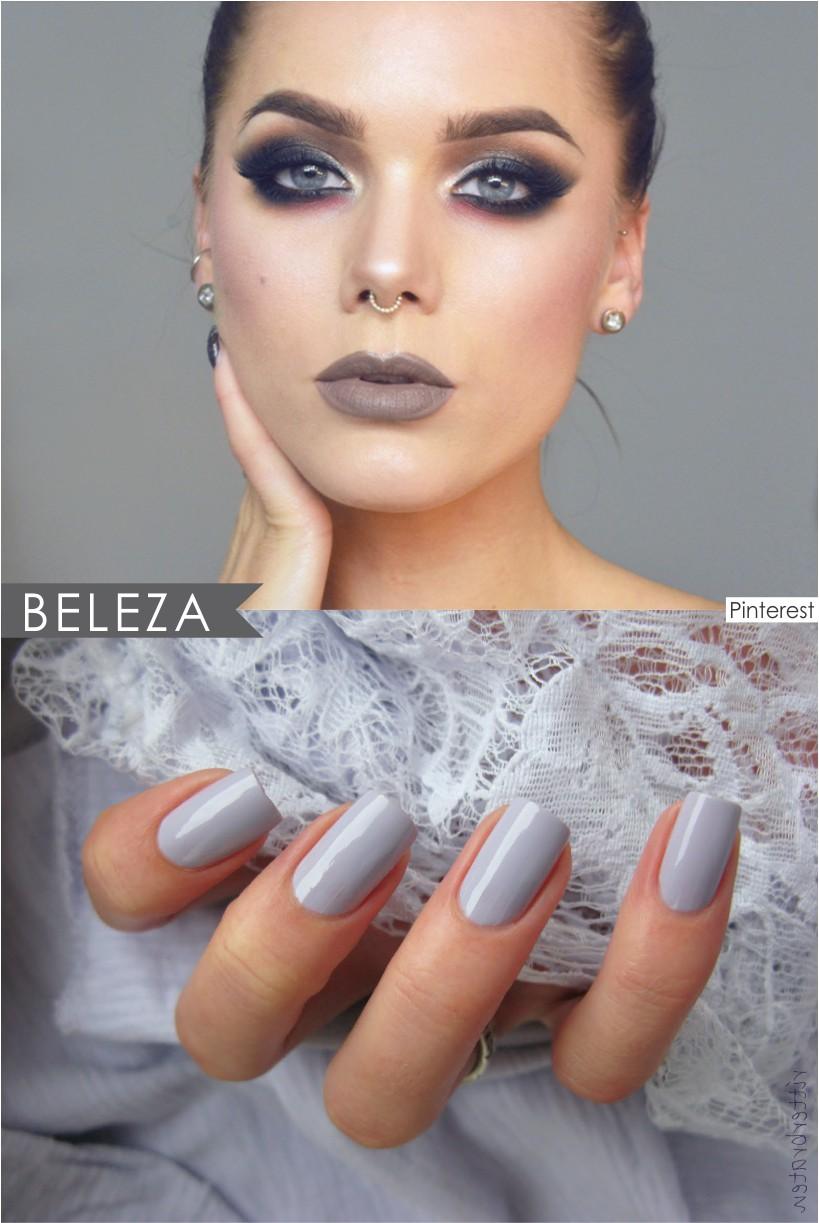 Cinza cor do inverno 2017 na beleza
