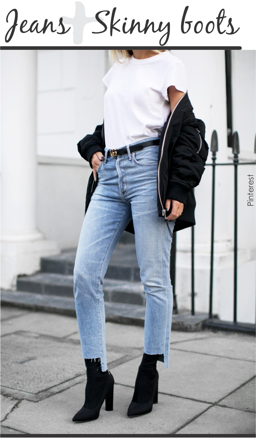 Jeans + skinny boots