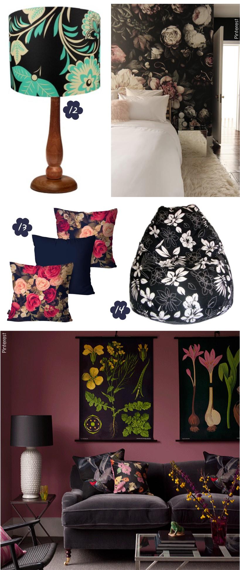 Estampa Floral na decoração de interiores