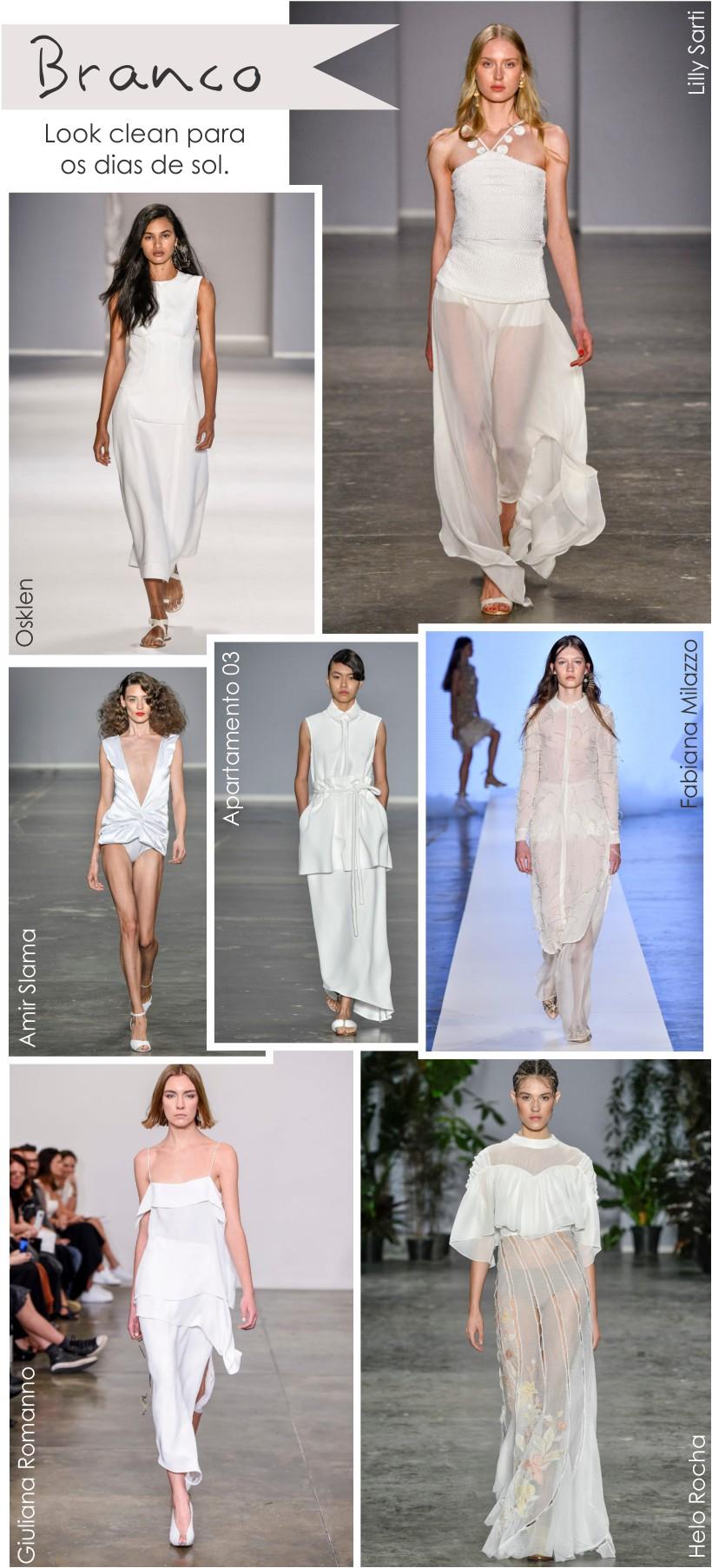 Branco é tendência do SPFW N44 Verão 2018
