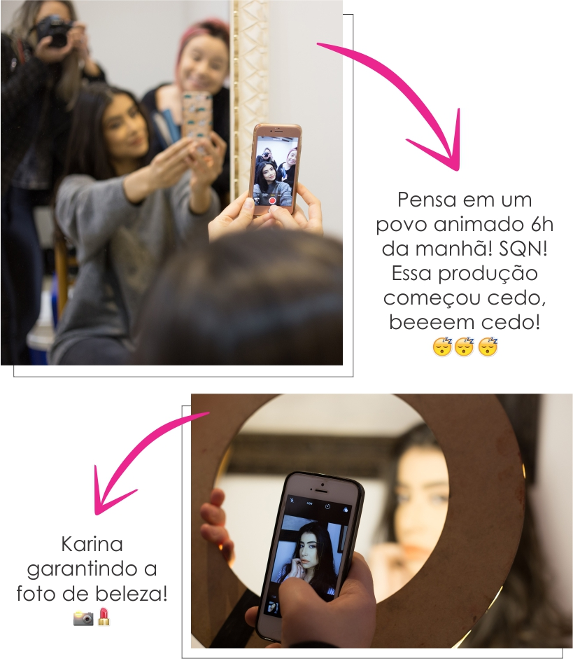 "Making of: Editorial ""Sinta o frescor"" - Maquiagem"