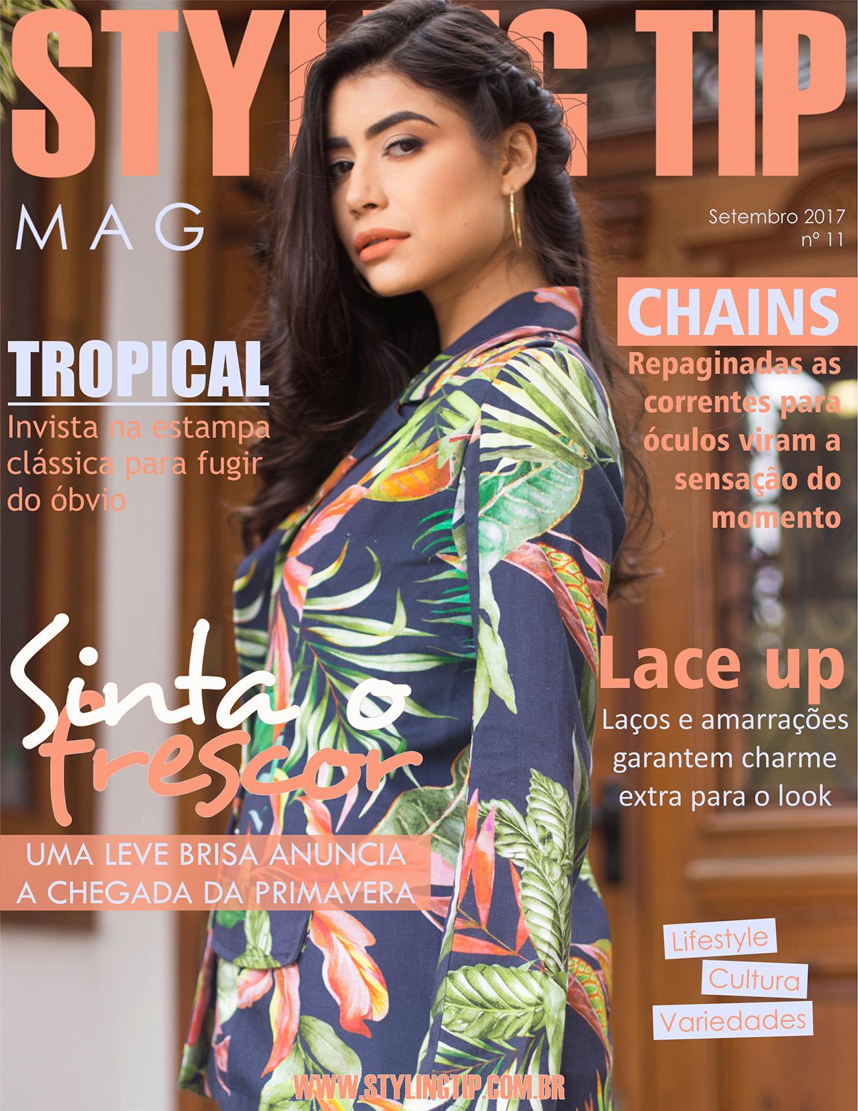 Capa STYLING TIP Mag Setembro 2017 - Especial Primavera