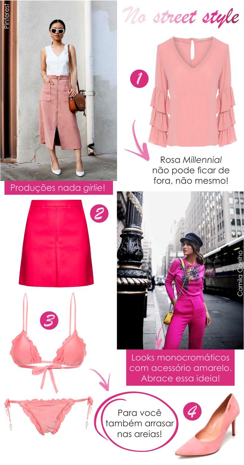 Rosa no street style
