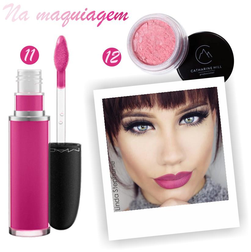 Rosa na maquiagem