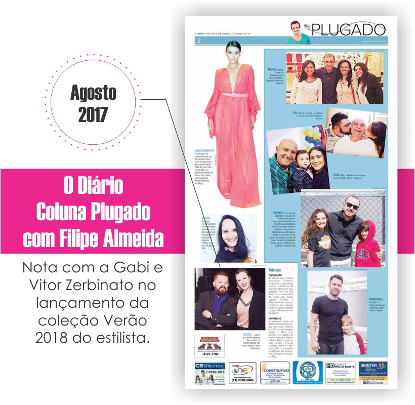 Gabi Fernandes e Vitor Zerbinato na coluna Plugado - O Diário Mogi das Cruzes