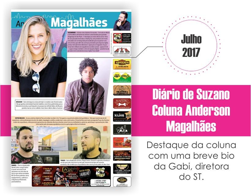 Gabi Fernandes na coluna Anderson Magalhães - Diário de Suzano