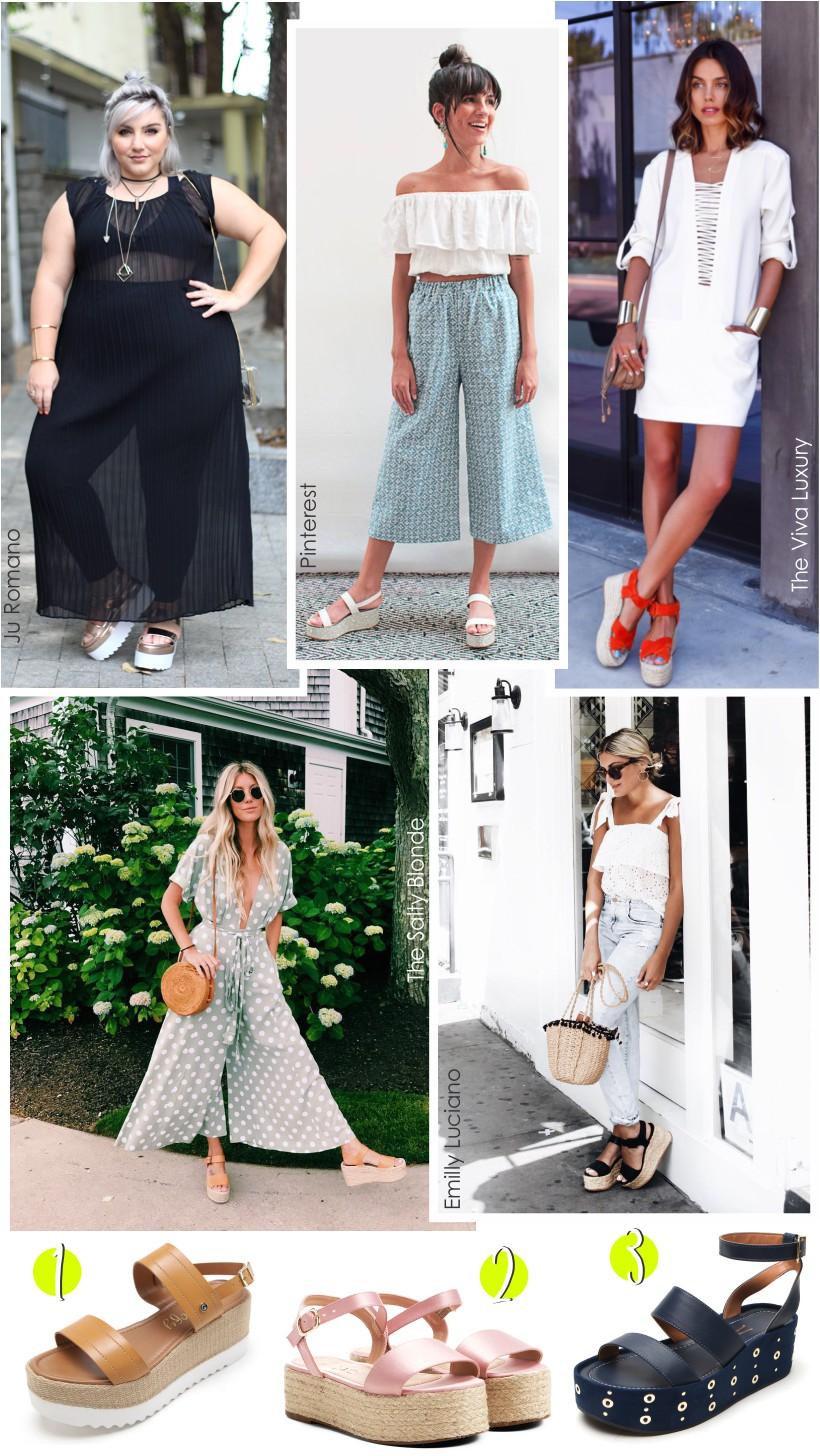 Como combinar a sandália flatform com diversos looks.