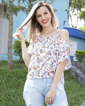 Gabi Fernandes com Look do dia Morena Flor.