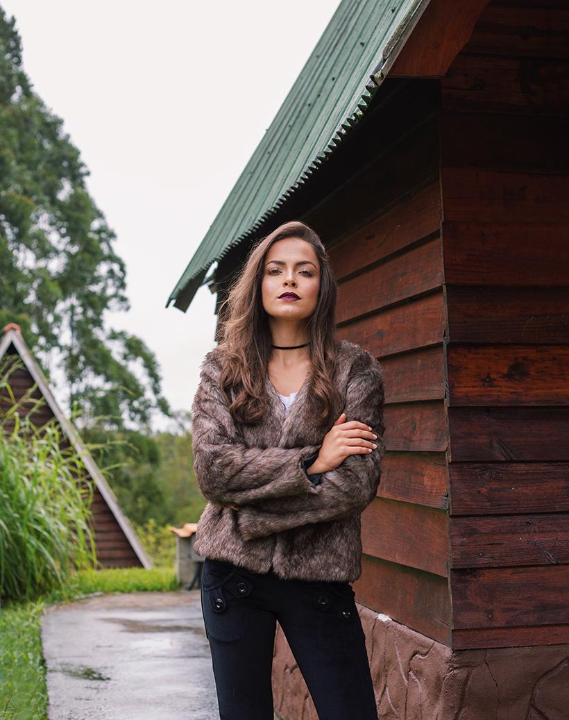 Look com casaco de pelo - ROSÁLIA STORE para STYLING TIP
