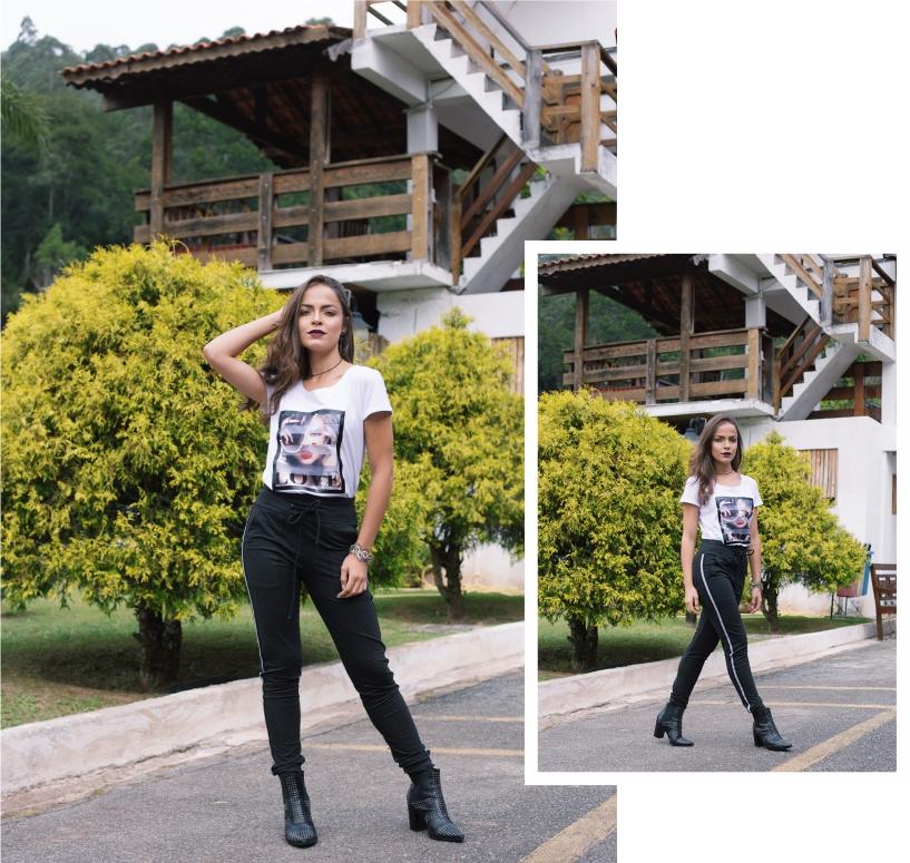 Look casual com calça jogging e t-shirt ROSÁLIA STORE para STYLING TIP